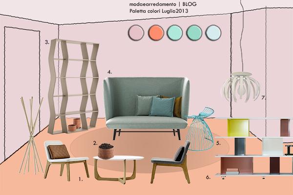 Paletta colori CASA tendenze arredamento 2013: Rosa del Nord e Verde Menta