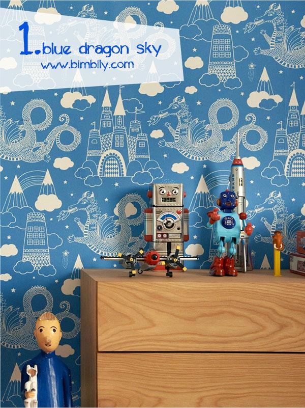 carte parati colorate majvillan_blue_dragon_sky_wallpaper_bimbily_1