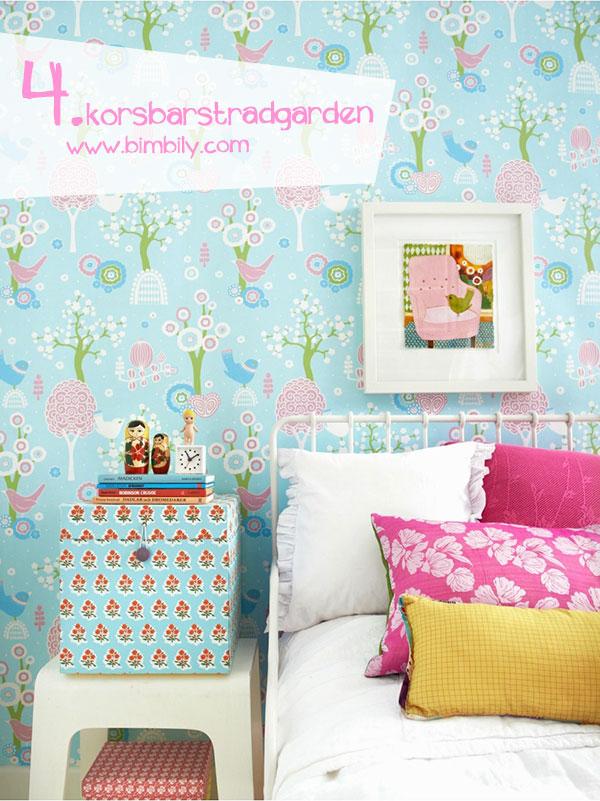 carte parati colorate majvillan_korsbarstradgarden_turquoise_wallpaper_bimbily_1