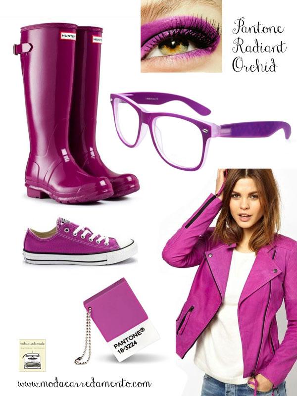 Radiant Orchid pantone 18-3224 calzature e moda.