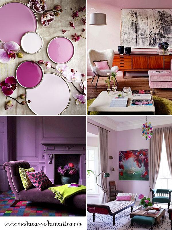 Pantone radiant-orchid colori per pareti casa