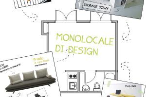arredare monolocale design piantina