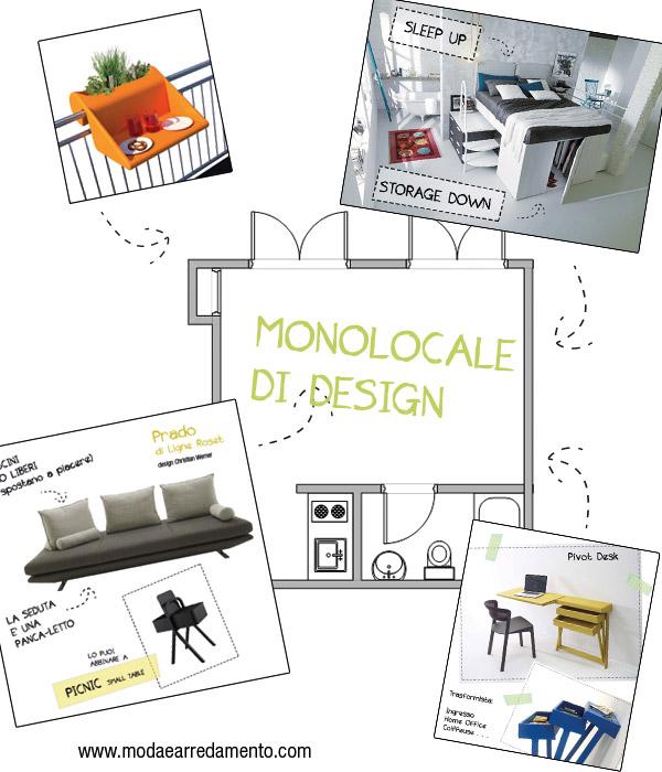 arredamento monolocale design esempio
