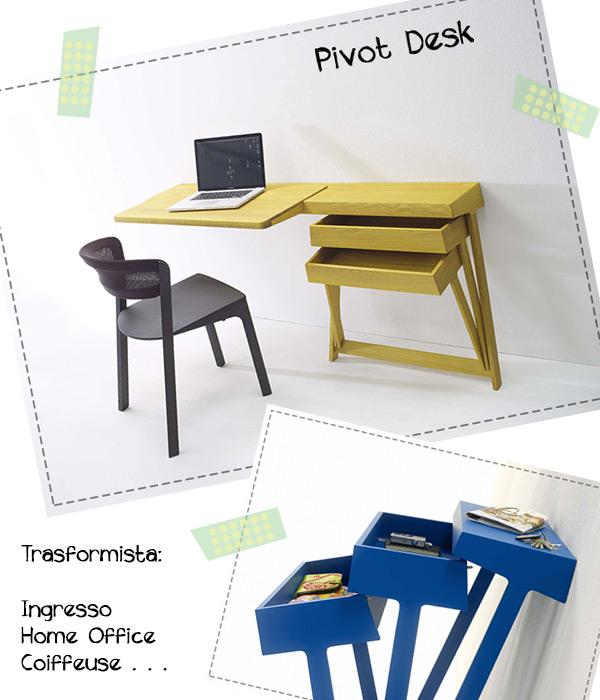arredamento monolocale design Pivot Desk di Arco
