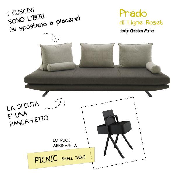 arredare monolocale design Prado-Ligne-Roset