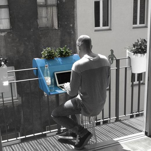 arredare monolocale design Balcony office