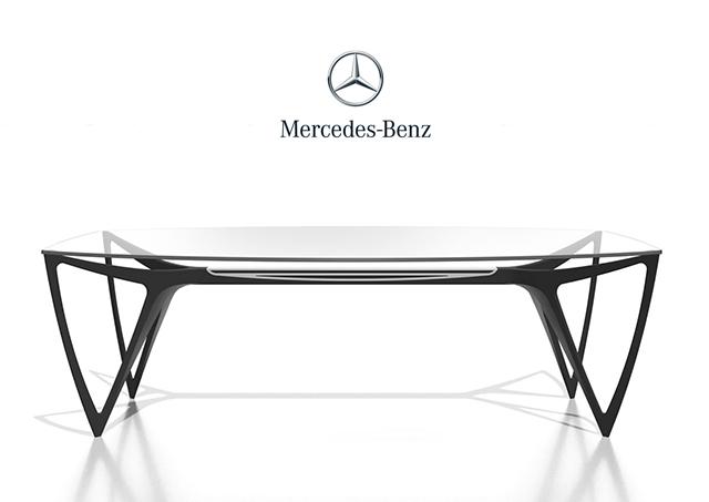 arredamento di lusso per interni: tavolo Mercedes