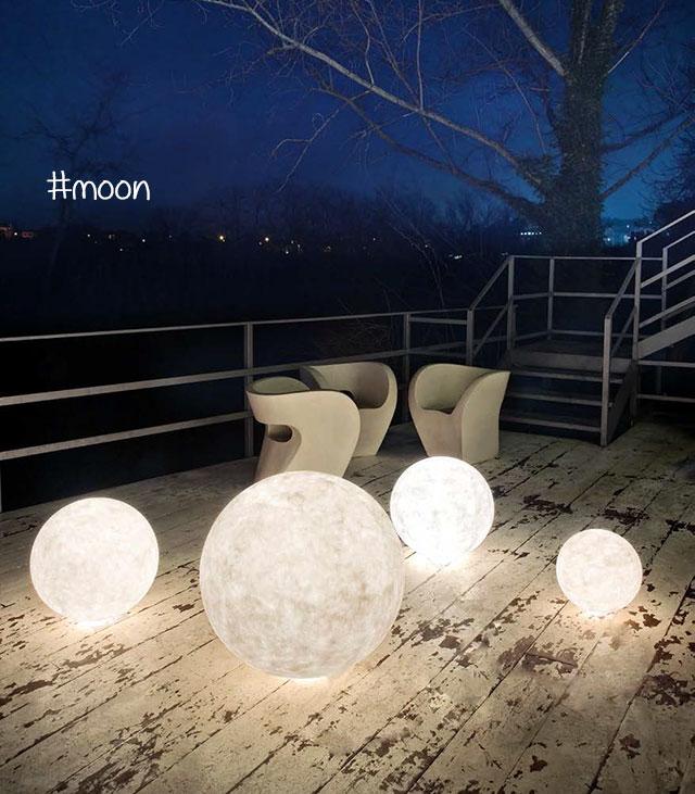 lampade design da esterno : moon in es art design