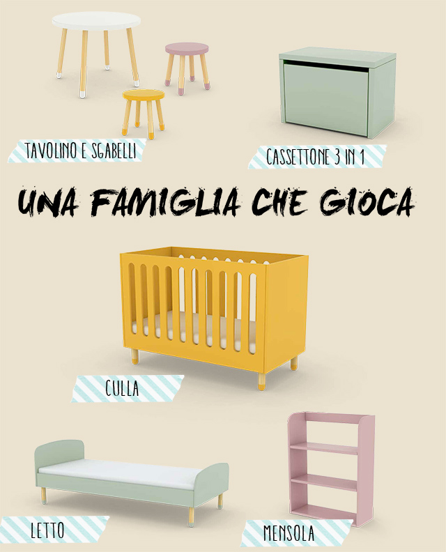 immagine mobili bambini flexa
