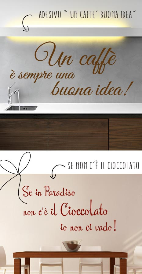 Emejing Stickers Murali Per Cucina Contemporary - Ideas & Design ...