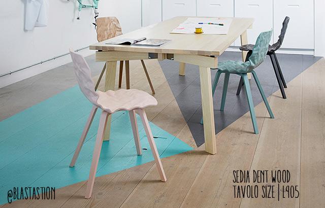 Immagine della sedia Dent wood di blastation produttore di arredo nordico, apre una nuova sede a Milano.