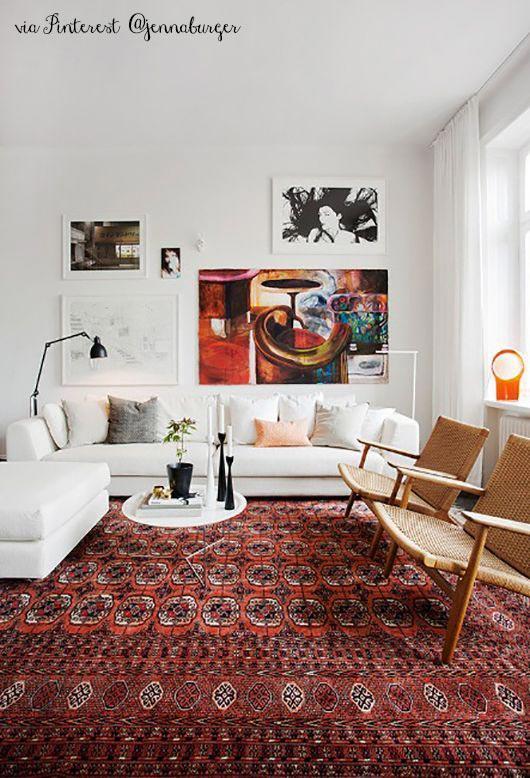 Marsala colore 2015 interpretazioni nell 39 arredo for Red rug in living room