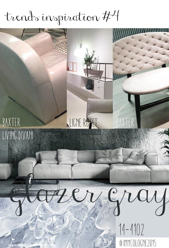 Immagine di moodboard immcologne2015 glazer gray colour, design report from latest show in Koln.
