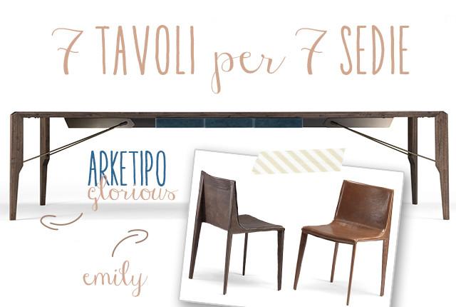 Arketipo Glourios tavolo sedia Emily