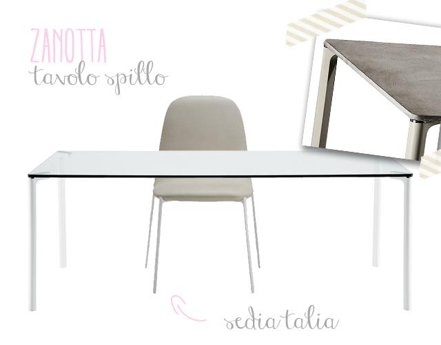 Zanotta tavolo Spillo e sedia Talia immagine.