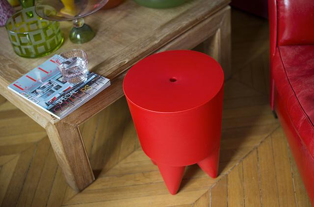 Immagine di Sgabello Bubu Rosso acquistato su Dalani.
