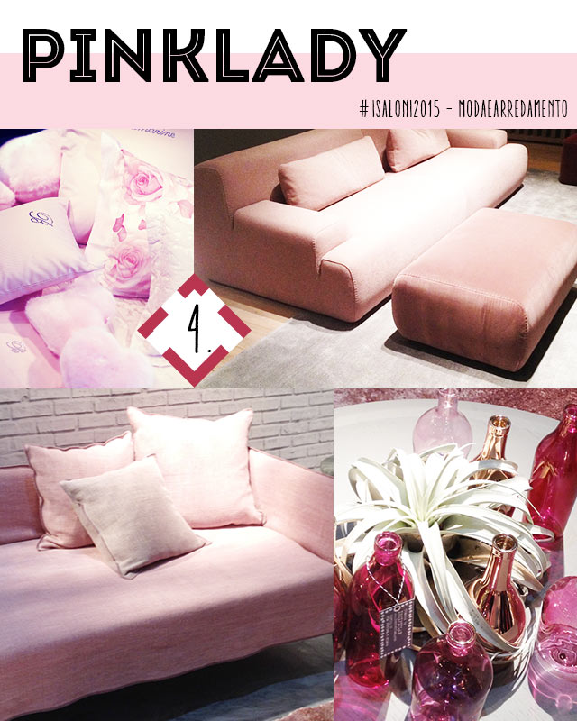 colori e materiali di tendenza nel 2015: il rosa.