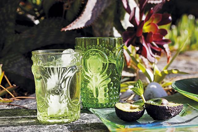 Bicchiere decorato di Coincasa.