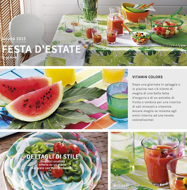 Homepage della festa d'estate.