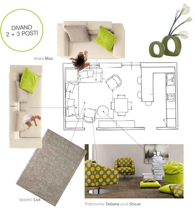 Come scegliere il divano: 3+2 posti.