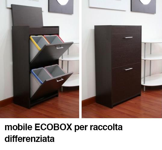 Mobile per raccolta differenziata.