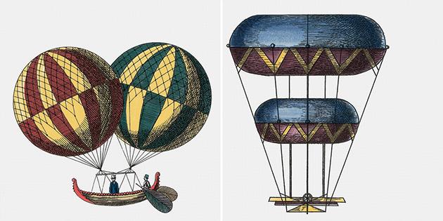Macchine volanti di Piero Fornasetti.