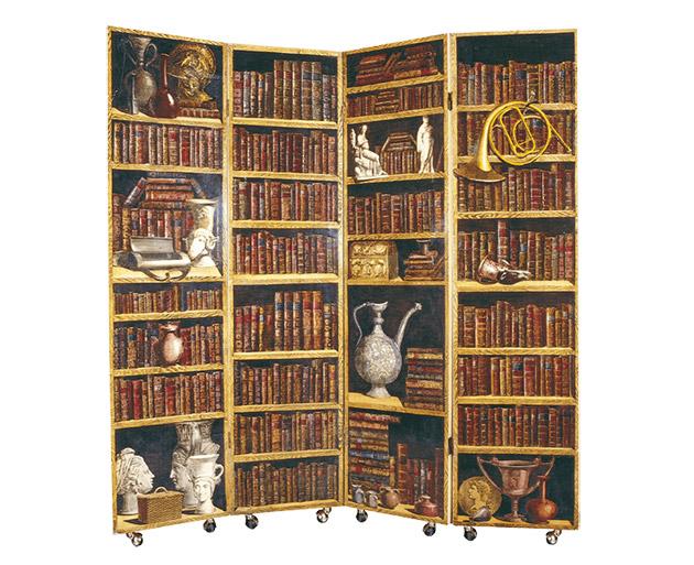 Paravento Fornasetti libreria.