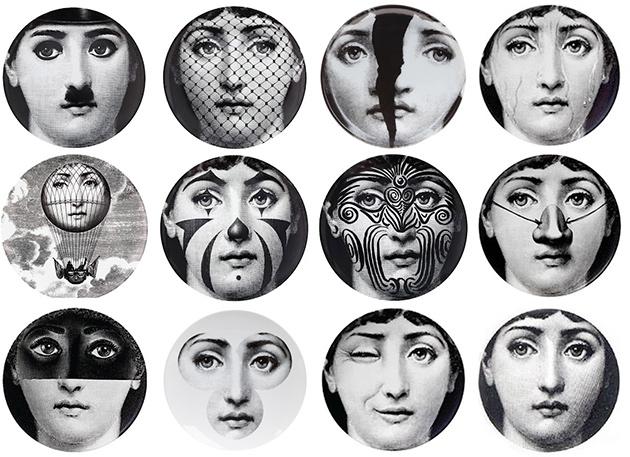 Faccie di donne di Piero Fornasetti.