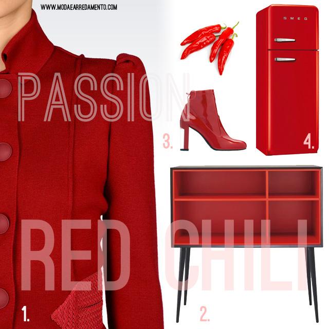 Ispirazione casa colore rosso peperoncino.