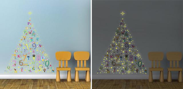 Alberi di Natale a Stickers fluorescenti
