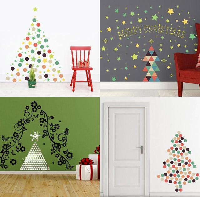 Alberi di Natale a stickers
