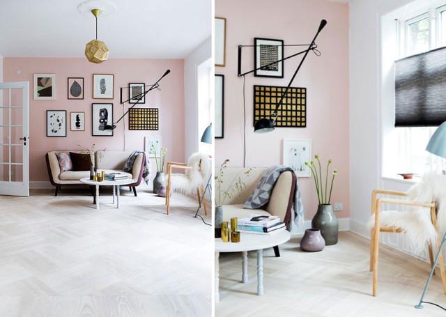 living in rosa quarzo