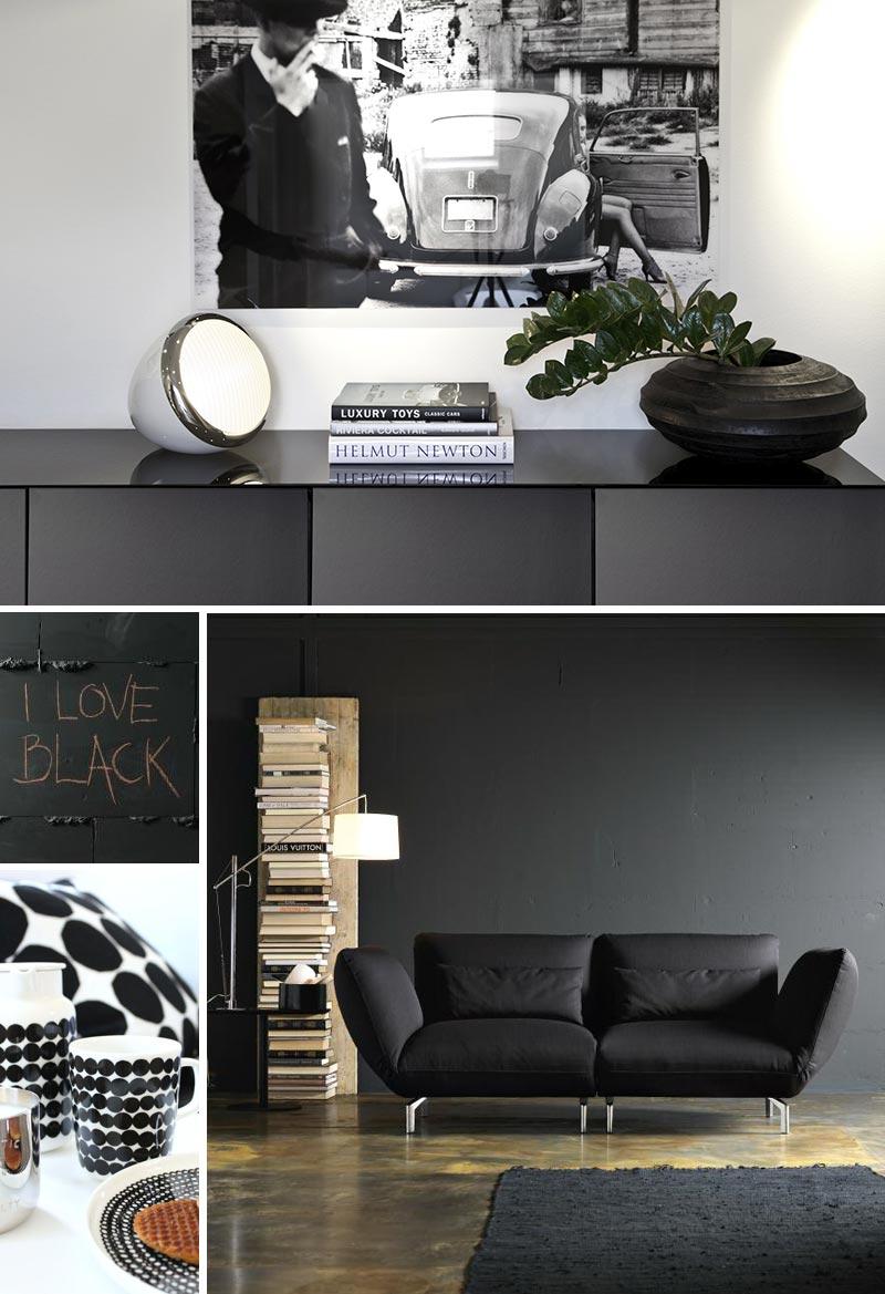 Black, white and shade of gray design. - modaearredamento