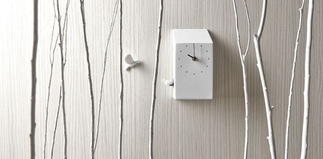 Orologio da parete design Cuckoo clock - bianco.