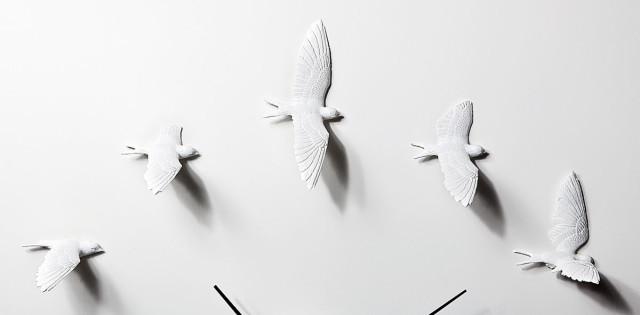 Orologio da parete di design Swallow - dettaglio