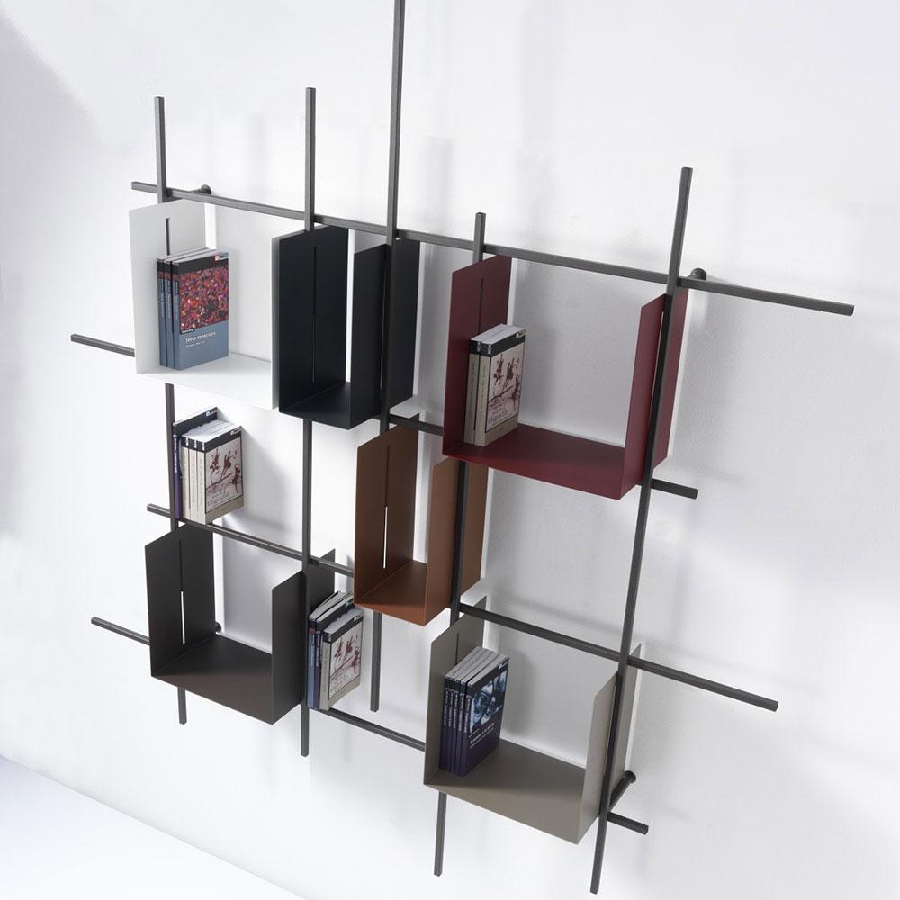 Librerie da appendere a parete idee e soluzioni efficaci for Scaffali da ufficio