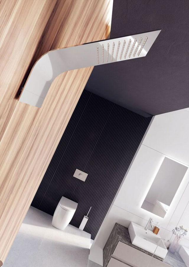 Elio inox soffione per doccia high-design.
