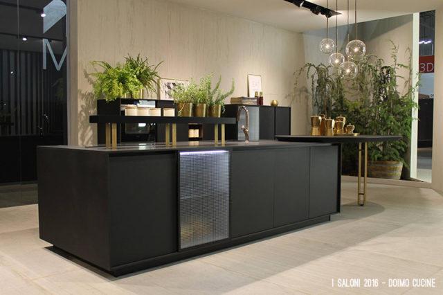 Salone del Mobile Eurocucina 2016 - stand Doimo Cucine penisola Soho.