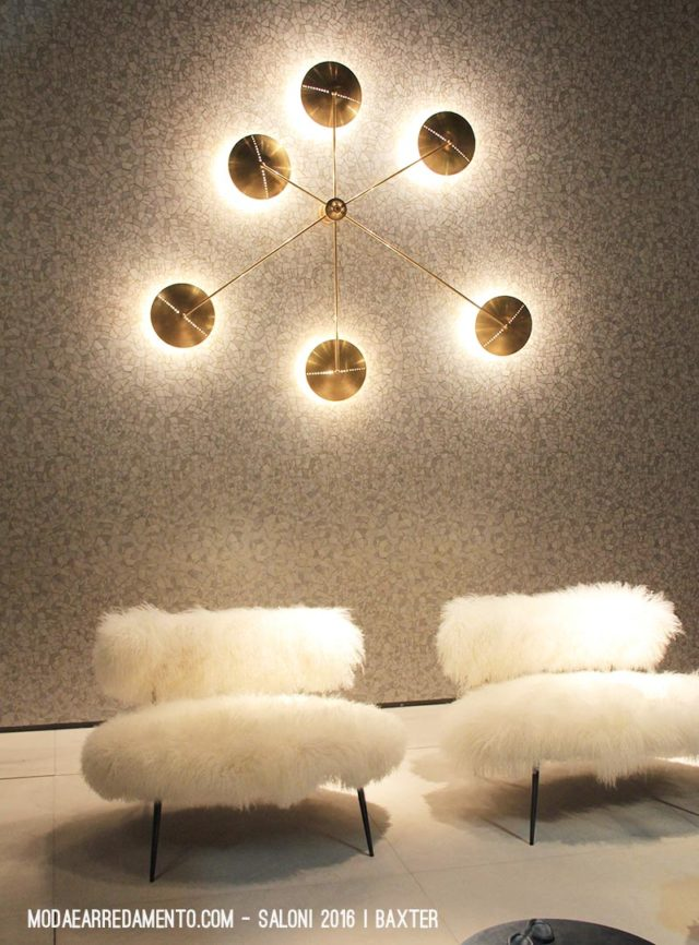 Salone del Mobile 2016 - lampada a parete Baxter.