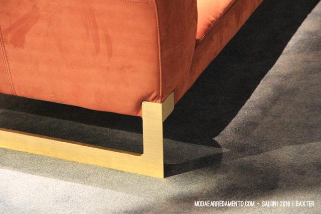 Salone del Mobile 2016, particolare piedino divano Baxter.