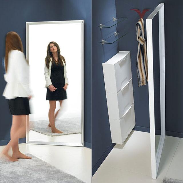 Specchio salva spazio per le case vacanza.