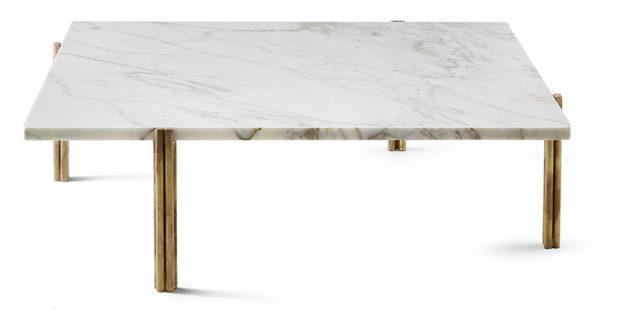 Twelve XL marmo e ottone per il nuovo tavolo da soggiorno di Gallotti e Radice.