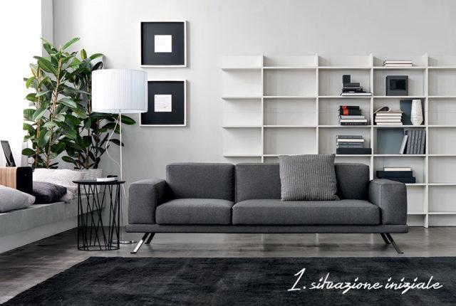 Under doimo divano grigio