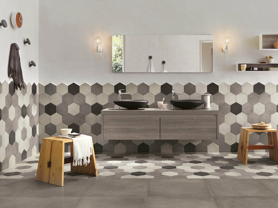 colwich » bagno pavimenti rivestimenti moderno. doccia sauna bagno ... - Arredo Bagno Rivestimenti