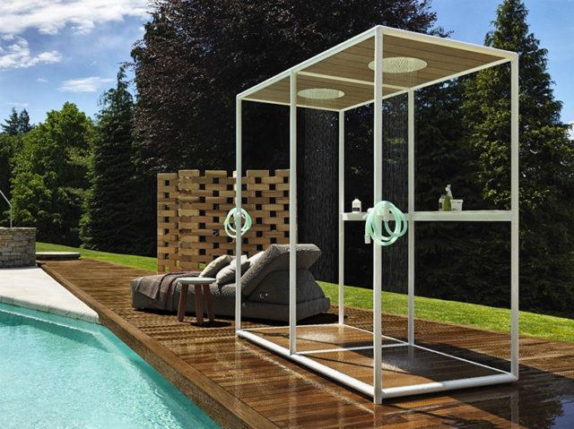 Wazebo Kos di Zucchetty, box doccia per esterno.