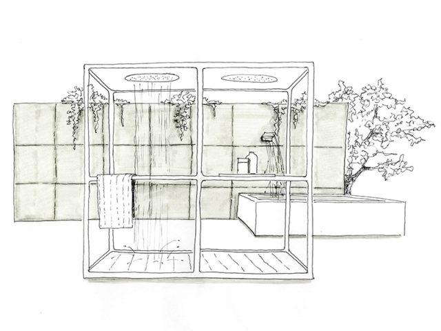 Kos by Zucchetti - progetto per doccia da esterno.
