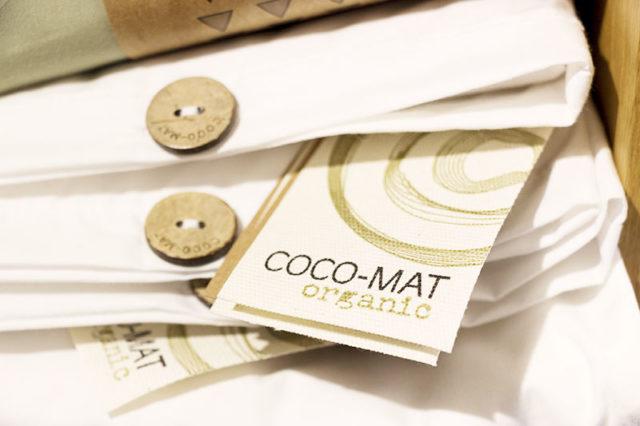 COCO-MAT etichetta di origine materiali.