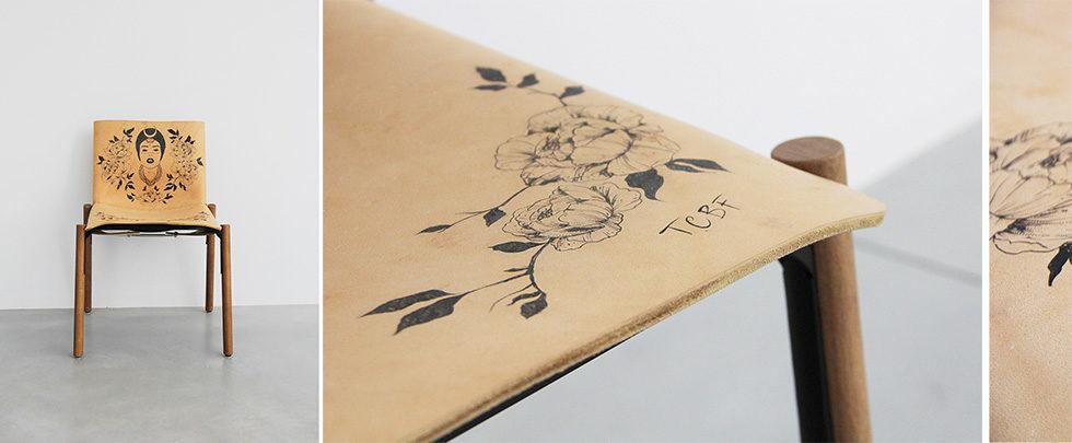 Kristalia design sedia con tattoo - Edition 1085 Bartoli Design.