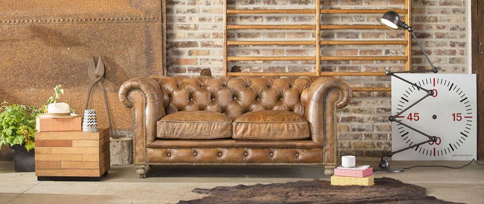 Arredare industrial: il divano vintage - copertina.