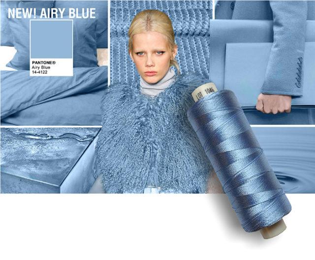 Pantone colore azzurro Airy blue.